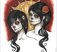Sugar Skull Sisters by ConnieFaye