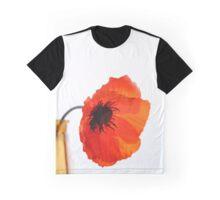 Red poppy in vase Graphic T-Shirt