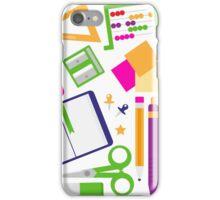 Set of school items cartoon : beautiful clip-art Illustration iPhone Case/Skin