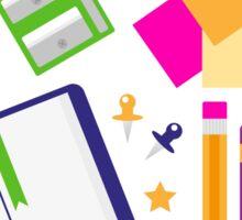 Set of school items cartoon : beautiful clip-art Illustration Sticker