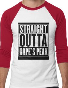 danganronpa- straight outta hope's peak Men's Baseball ¾ T-Shirt