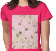 Cherry Blossoms Background Womens Fitted T-Shirt