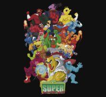 Super Sesame Street Fighter Kids Tee