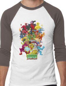 Super Sesame Street Fighter Men's Baseball ¾ T-Shirt