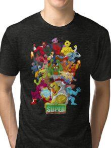 Super Sesame Street Fighter Tri-blend T-Shirt