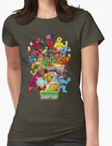 Super Sesame Street Fighter Womens Fitted T-Shirt