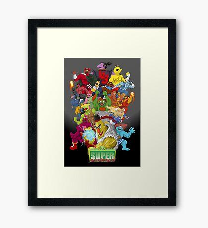 Super Sesame Street Fighter Framed Print