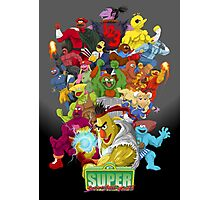 Super Sesame Street Fighter Photographic Print