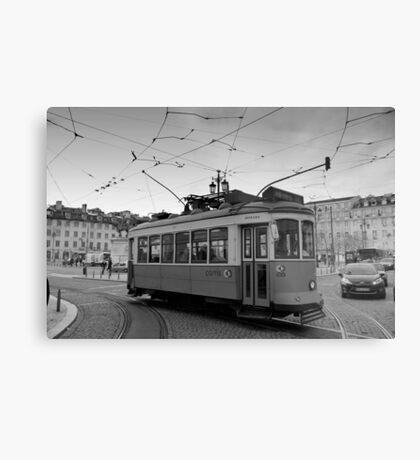 Tram in Rossio, Baixa, Lisbon, Portugal Metal Print