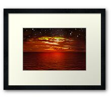 Night is Falling Framed Print
