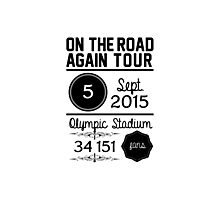 5th September - Olympic Stadium OTRA Photographic Print