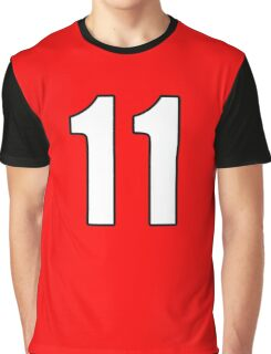 Football, Soccer, 11, Eleven, Number Eleven, Eleventh, Team, Number, Red, Devils Graphic T-Shirt