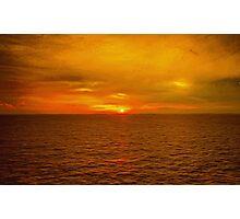 Sunset on the Caribbean Sea Photographic Print