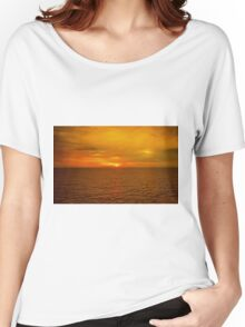 Sunset on the Caribbean Sea Women's Relaxed Fit T-Shirt