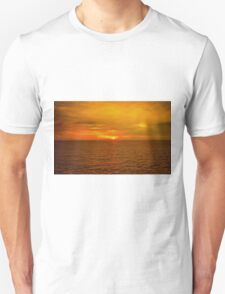 Sunset on the Caribbean Sea Unisex T-Shirt