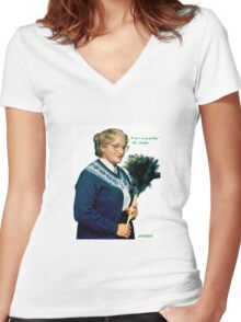 Mrs. Doubtfire Women's Fitted V-Neck T-Shirt
