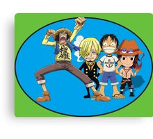 one piece time Canvas Print