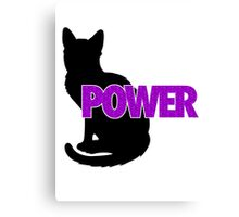 PUSSY POWER Canvas Print