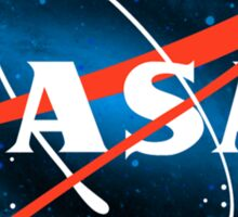 Spacey Nasa Logo Sticker
