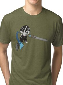 Sif, the Great Grey Mightyena Tri-blend T-Shirt