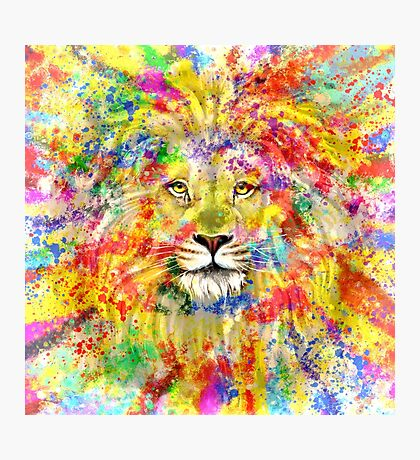Lion King Colorful Art Photographic Print