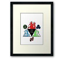 Ocarina of Time - Triforce Design Framed Print