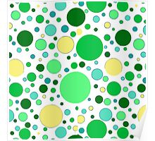 Bubbles- Green Poster