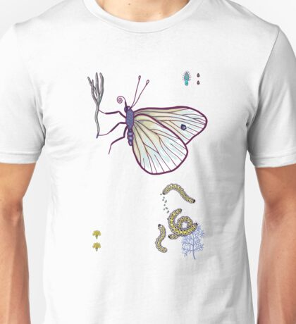 happy cabbage butterfly Unisex T-Shirt