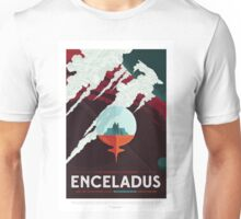 Enceladus - More Than 100 Breathtaking Geyers - Space Tourism Poster Unisex T-Shirt