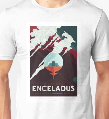 Enceladus - More Than 100 Breathtaking Geyers - Space Tourism Poster Unisex T-Shirt