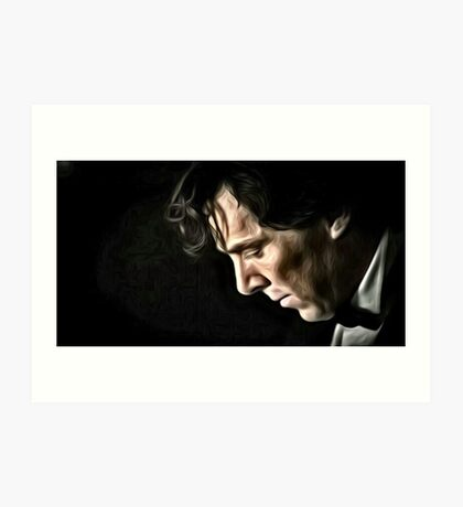 The Contemplative Consulting Detective Art Print