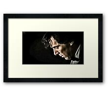 The Contemplative Consulting Detective Framed Print