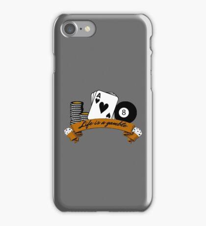 poker casino gamble gambling life lifestyle deep quote iPhone Case/Skin