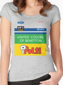 GP2 Tribute - Benetton Women's Fitted Scoop T-Shirt