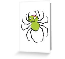 spider zombie Greeting Card