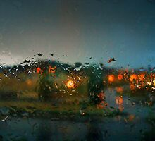 Rain Drops on a Window by Brayan Rodriguez