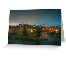 Rain Drops on a Window Greeting Card