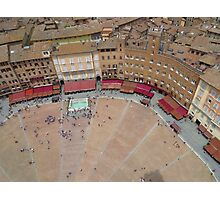 Down Below; Piazza Del Campo Photographic Print