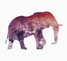 Pink Purple Elephant Spirit Animal by ohdeer