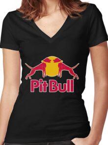 Pit Bull Women's Fitted V-Neck T-Shirt