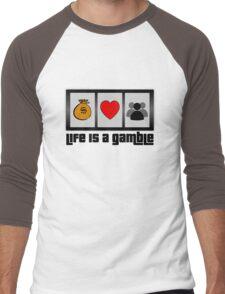 roulette gambling poker casino life lifestyle deep Men's Baseball ¾ T-Shirt