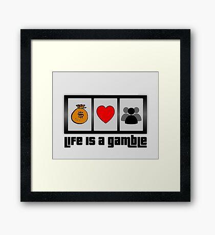 roulette gambling poker casino life lifestyle deep Framed Print