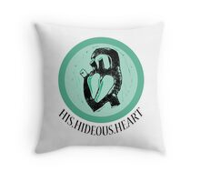 His Hideous Heart! Throw Pillow