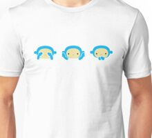 3 Wise Monkeys Unisex T-Shirt