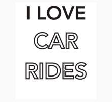 I Love Car Rides One Piece - Short Sleeve