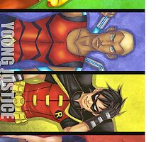 Young Justice Boys by toastytofu