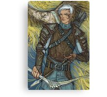 Hawk warrior Canvas Print