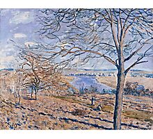 Alfred Sisley - Banks of the Loing - Autumn Effect, 1881 Photographic Print