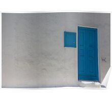 Blue Door And Pass Through Poster