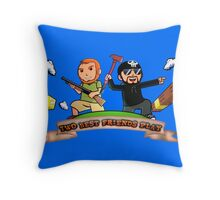 Two Best Friends Play S6 Logo Throw Pillow